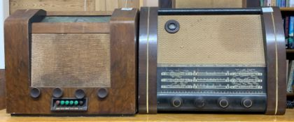 A wooden cased G.E.C radio B.C.3960 together with a further G.E.C wooden cased radio type BC.5543.