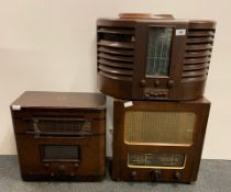 A McMichael wooden cased radio model 151.AC together with a wooden cased His Masters Voice vintage