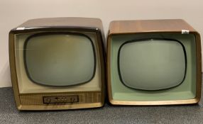 A wooden cased Bush Radio television receiver type TV95 together with a further wooden cased