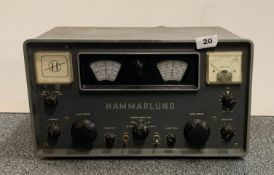 A Hammarlund commercial receiver model HQ100A.