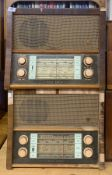 A vintage wooden cased Ekco radio model A239 together with a further wooden cased Ekco radio model