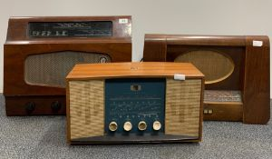 A wooden cased Murphy radio type 186 together with a wooden cased His Masters Voice radio British