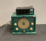 A metal cased radio (not original colour).