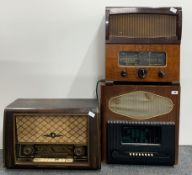 A Murphy wooden cased vintage radio (with back panel missing) together with a McMichael radio Ltd
