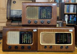 Three wooden cased vintage Cambridge PYE England radios.