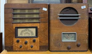 A wooden cased Ultra Electric Ltd vintage radio type 2931 together with a wooden cased vintage