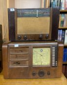 A large wooden cased Ekco radio type P.B.289 together with a wooden cased Mullard type M3315.