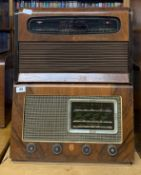 A wooden cased Ekco radio model A.104 together with a KB radio model GR.10.