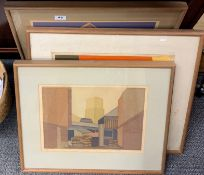 Kathleen King three limited edition 2/8, 1/16, 1/6 framed pencil signed lithographs, largest 61cm