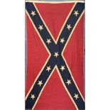 A vintage American Confederate flag, 154cm x 92cm.