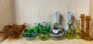 A group of Victorian and other glassware.