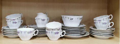 A pretty Edwardian part tea set.