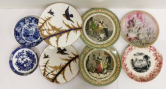 A group of mixed 19th and early 20th C ceramics including an early Wedgwood saucer bowl.