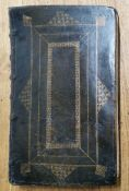 A calf leather bound '1710' folio edition of the Book of Common Prayer and Sacriments, 40cm x 25cm x
