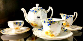 An early 20th C. Royal Doulton tea for one set.