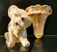 A Sylvac model of a sad puppy, H. 19cm.
