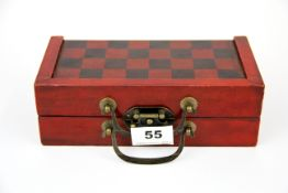 A Chinese travel chess set. King H. 4cm
