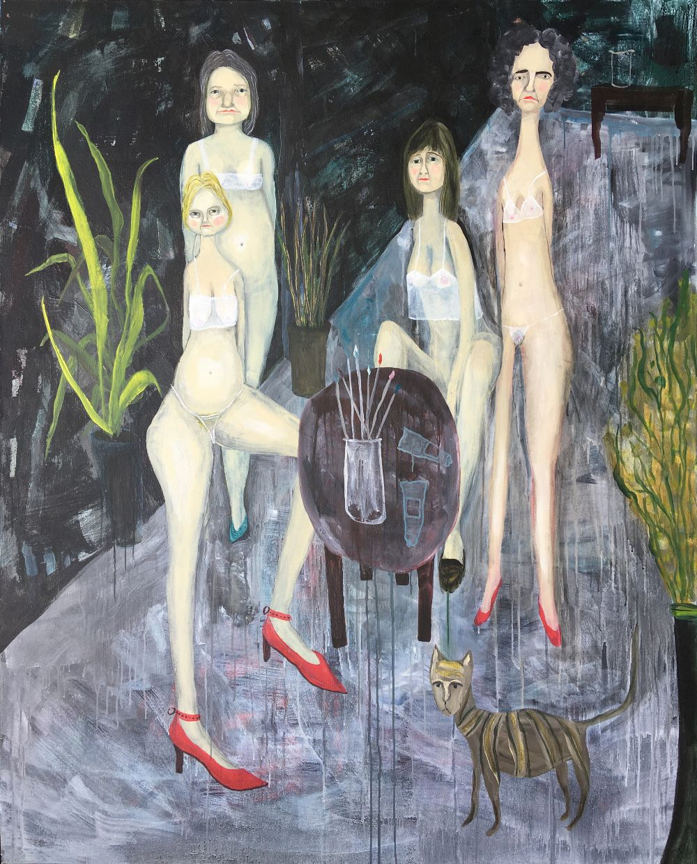 "Christy Burdock, ""Alternative Income Stream"", unframed acrylic on canvas, 2020, 152 x 122cm. A"
