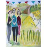 """Christy Burdock, """"Grow your Own"""", unframed acrylic on canvas, 2020, 75 x 100cm. The award winning"""