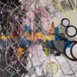 Janet Wallace is an emerging abstract artist who uses bold colors, textures and design to explore