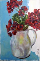 Tilly Gee is a UK based painter working with vivid, natural colors in acrylic and embroidery thread.
