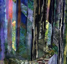 Rosemary Firth, mixed media collage artist. Participant in Sky Arts Landscape Artist of the year