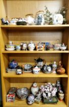 A large group of Oriental ceramic items.