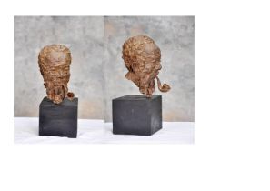 """Ohiolei Ohiwerei, """"Piper"""", Benin bronze, 8 x 38cm, 5kg, c. 2021. Over the years I have used my"""