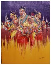 """Kalu Uche Karis, """"Efik Maidens"""", acrylic and oil on stretched canvas, 117 x92cm, c. 2021. About"""