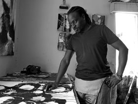 Peter Musami is a mixed media visual artist practicing in Harare, Zimbabwe, from late 2000s. With