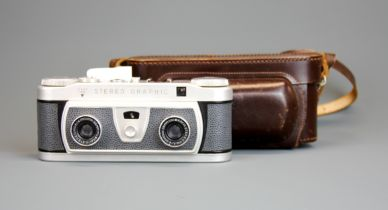 A Wray London Stereographic camera and case.