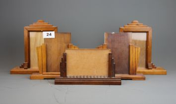 Five Art Deco wooden picture frames.