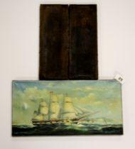 Three unframed 19th Century oils on canvas, largest 41 x 20cm.