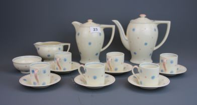 A 1960's Susie Cooper coffee set.