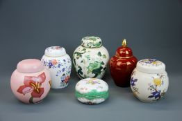 A masons ginger jar and others.