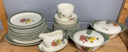 A Wedgwood Covent Garden part dinner and tea set. Tureen A/F.