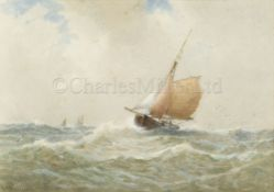 GEORGE STANFIELD WALTERS (BRITISH, 1838-1924) : A fishing boat returning to port