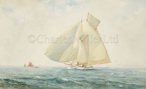 HERBERT WALTER OAKE (BRITISH, 1888-1938) : 'Susanne' racing off Cowes