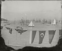 A COLLECTION OF 10 x 12in. PHOTOGRAPHIC GLASS NEGATIVES ATTRIBUTED TO KIRK OF COWES CIRCA 1910