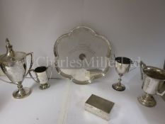 A COLLECTION OF MARINE SOCIETY PRESENTATION SILVERWARE