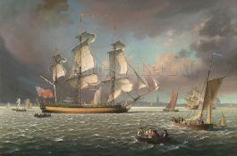 δ LEONARD JOHN PEARCE (BRITSH, CIRCA 1985) The training ship 'Marine Society' (ex-'Beatty') heaving-