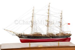 A DETAILED STATIC DISPLAY MODEL OF THE CLIPPER SHIP CORIOLANUS