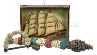 Ø A GROUP OF 19TH CENTURY SAILORWORK COLLECTABLES
