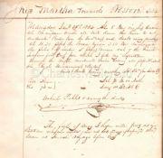 AN AMERICAN SHIP'S LOG FOR THE MARTHA, 1834