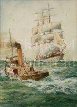 WILLIAM MINSHALL BIRCHALL, BRITISH (1884-1941) 'An incoming voyager'