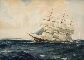 ATTRIBUTED TO JACK SPURLING (BRITISH, 1871-1933): A clipper, plus another by a different hand