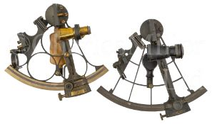 A 6½IN. RADIUS VERNIER SEXTANT BY J. COMBES, DEVONPORT, CIRCA 1900 & another unsigned