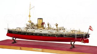 A FINELY DETAILED 1:100 SCALE STATIC DISPLAY MODEL OF THE MONARCH-CLASS COASTAL DEFENCE SHIP WIEN