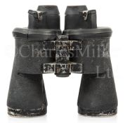 A PAIR OF 7 X 50 FIXED FOCUS U-BOAT BINOCULARS REFURBISHED FOR USE BY THE ROYAL NAVY, CIRCA 1940