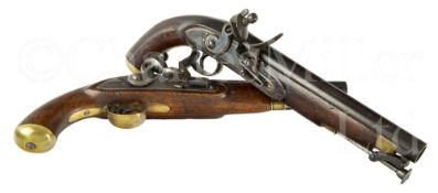 TWO FLINTLOCK SHIP'S PISTOLS FROM THE 1854 WEST AFRICA NIGER EXPEDITION STEAM YACHT PLEIAD